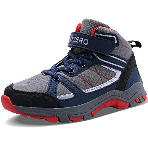 Caitin Running Tennis Shoes for Kids Lightweight Outdoor Hiking Boots Athletic Sneakers Grey