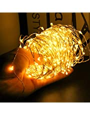 24HOCL 200 LEDs Waterproof Fairy Copper String Lights with Remote Control for Halloween Thanksgiving Christmas Bedroom Decor Christmas Patio Indoor Outdoor (20M, Warm White)