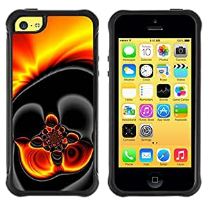 Suave TPU GEL Carcasa Funda Silicona Blando Estuche Caso de protección (para) Apple Iphone 5C / CECELL Phone case / / Gold Hot Lava Fire Dark /