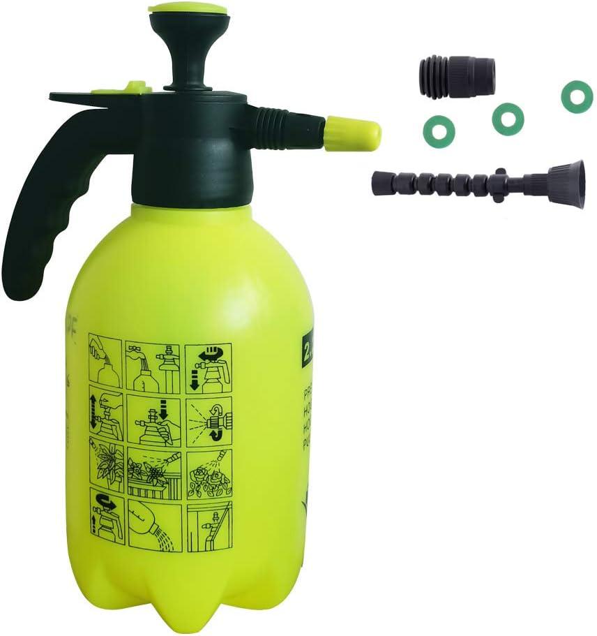 SIMPEXPE Garden Pump Sprayer Portable Yard & Lawn Pressure Water Sprayer,74.4oz Hand held Spraying Weeds/Watering/Home Cleaning/Car Washing 0.58 Gallon