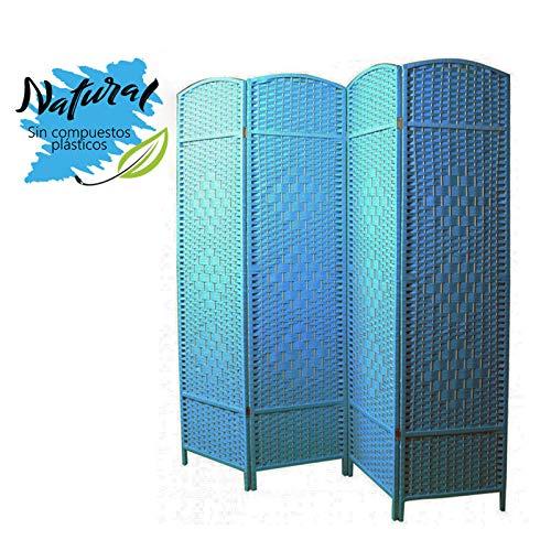 Biombo Separador Grande Azul
