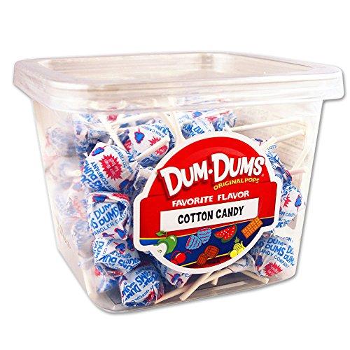 Dum-Dum Pops Cotton Candy 1 lb tub (Cotton Candy Pops)