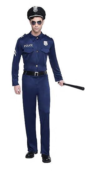DISFRAZ POLICIA TALLA M/L TAMAÑO ADULTO: Amazon.es: Juguetes ...