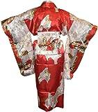 Adult Satin Kimono Robe - Red FBA