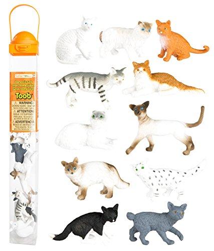 (Safari Ltd. Domestic Cats Toob Figurines, Pack of 11)