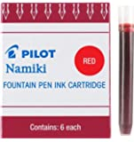 Pilot Namiki IC100 Fountain Pen Ink Cartridge Black 12 Cartridges per Pack 69100 Red Pack of 6