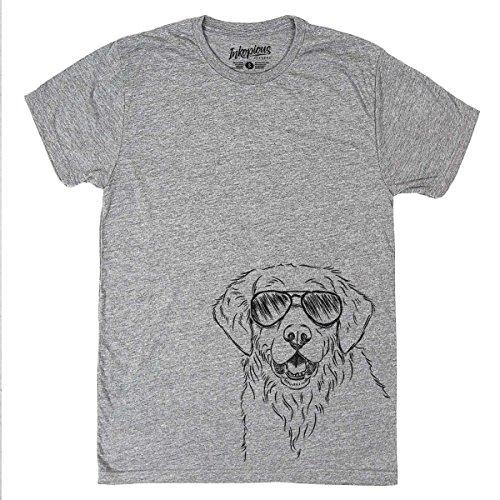 (Toby The Golden Retriever Men's/Women's Triblend T-Shirt Unisex Crewneck Large)