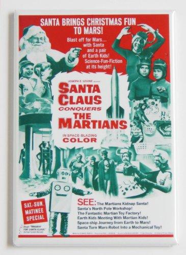 Santa Claus Conquers the Martians Movie Poster Fridge Magnet (2 x 3 (Blue Santa Claus)