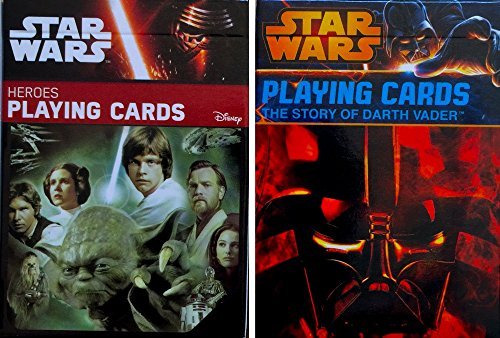 Star Wars Children's Heroes Playing Cards and Star Wars Playing Cards the Story of Darth Vader (Playing Cards Story)