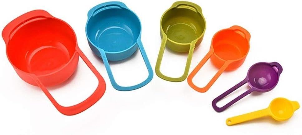 6 Stück/Set Küche Messbecher Rainbow Color Stapelbare Kombinationsmessbecher Werkzeuge 6-teiliges Küchenzubehör Werkzeuge (Color : As Shown) As Shown