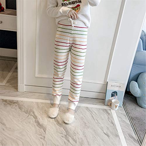 Femeninos Servicio Mmllse Invierno Rayas White Domicilio Pijamas Lana Suave A Hamburgo Cálidos SqRRrxYI