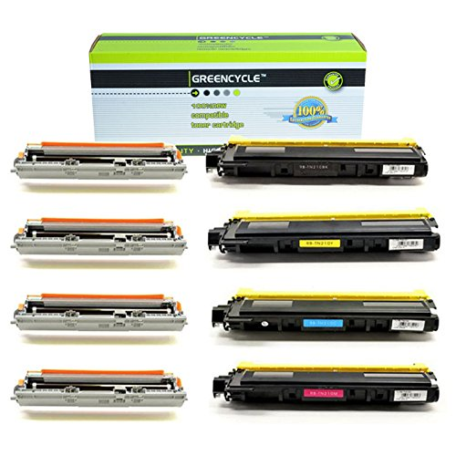 GREENCYCLE 4 PK Toner Cartridge & Drum Set TN210 K / C / ...
