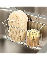 Kitchen Sponge Holder, Sink Caddy,Sink Basket Brush Dishwashing Liquid Drainer Rack