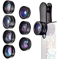 Phone Camera Lens,7 in 1 Cell Phone Lens Kit for iPhone...