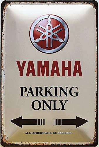 Deko 7 Plaque en m/étal 30 x 20 cm Yamaha Parking Only