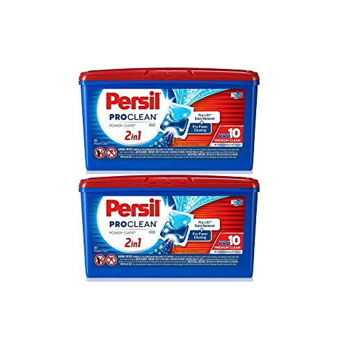 Persil ProClean Power-Caps 2-in-1 Laundry Detergent, Pouch 38 Count (2 Pack)