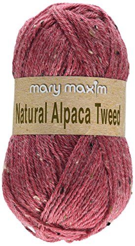 (Mary Maxim Y083-302 Natural Alpaca Tweed Yarn (Wild)