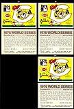 1971 Fleer World Series Champs (Baseball) Card# 74 1976 Cincinnati Reds, New York Yankees of the Cincinnati Reds Ex Condition