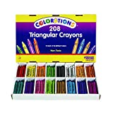Colorations Regular Size Triangular Crayons - Set of 208 (Item # CRSTC)