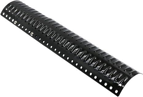 GFTIME Universal Placa de Calor Barbacoa de Gas Piezas de Repuesto Parrilla Barbacoa Acero de Porcelana BBQ Reemplazo Extensible 30,48 cm a 76,2 cm