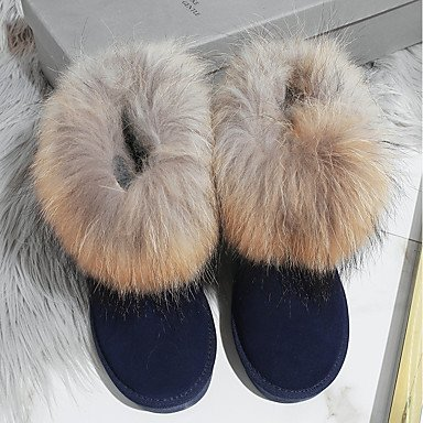 Leder Futter Kleid Zehe Leder Stiefel Winter Echtes Schuhe Booties Schneestiefel Damen Stiefeletten Für Flaum Normal SHAOYE Runde Stiefeletten q7tTzn