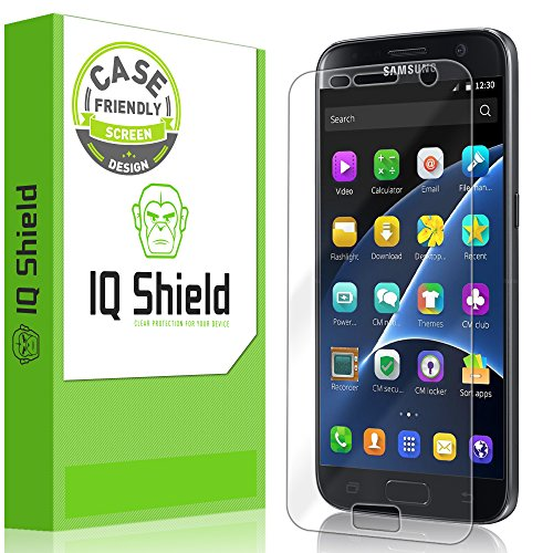 Galaxy S7 Screen Protector, IQ Shield LiQuidSkin [Updated Design][Case Friendly] Full Coverage Screen Protector for Samsung Galaxy S7 HD Clear Anti-Bubble Film - with