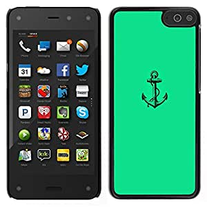 LECELL--Funda protectora / Cubierta / Piel For Amazon Fire Phone -- Mar verde vibrante Marinero Barco --
