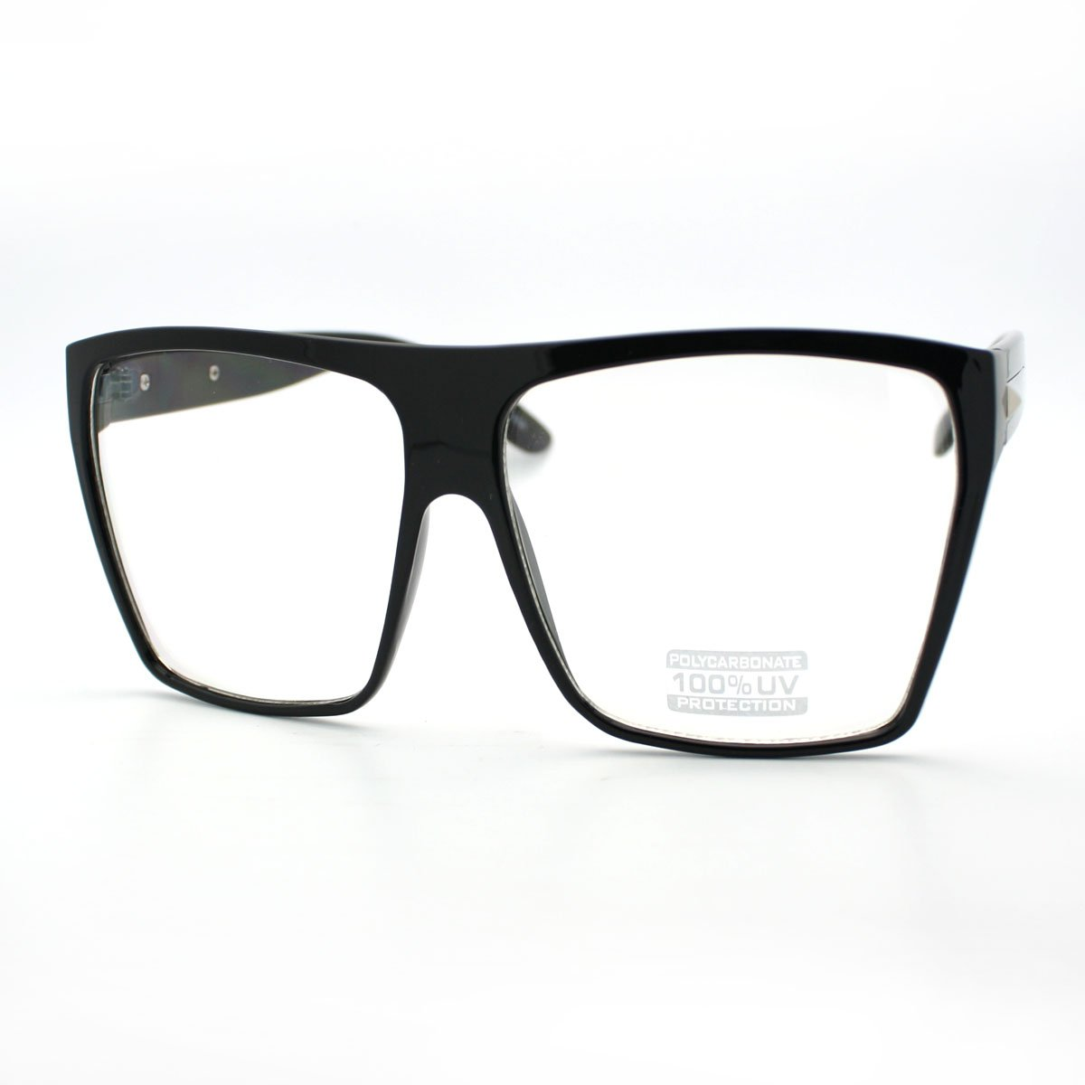 Super Oversized Eyeglasses Flat Top Square Clear Lens Glasses Frames ZV-8830d