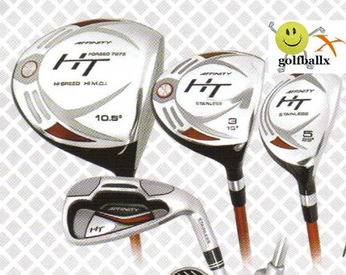 Affinity/Orlimar Golf Men's HT Edition Golf Club Set; with Hybrid Irons Right Hand: Cadet, Regular or Tall Length; Fast Shipping!, GRAPHITE SHAFT WOODS; 3and4 HYBRIDS; U-CUT 5 IRON through PITCHING WEDGE, Outdoor Stuffs