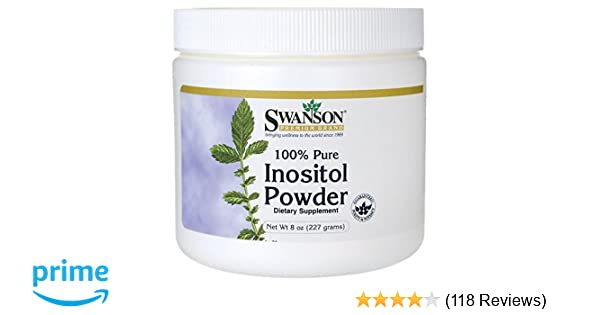 Swanson 100% Pure Inositol Powder 8 Ounce (227 g) Pwdr