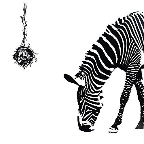 Bird's Nest and Zebra 3D Removable Wall Art Decal DIY Home Wall Sticker Decor