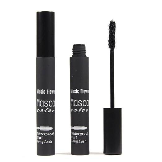 Fullkang Colorful Waterproof Makeup Eyelash Long Curling Mascara Eye Lashes Extension (Black)