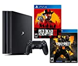 PlayStation 4 PRO Red Dead COD Bundle: RED Dead Redemption 2, Call Duty Black Ops 4, PlayStation 4 PRO 4K HDR 1TB Console