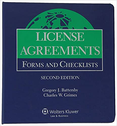 License Agreements Forms And Checklists 2014 Supplement
