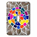 Danita Delimont - art - Rangoli design to welcome Hindu deities, Pondicherry, India - Light Switch Covers - single toggle switch (lsp_225636_1)