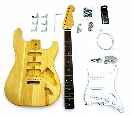 DIY Electric Guitar Kits for Stratcaster Electric Guitar, Bass Wood Body,Maple Fingerboard