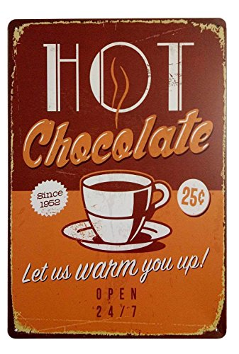 Hot Chocolate Since 1952 Let Us Warm You up Retro Vintage Bar Metal Tin Signs 12