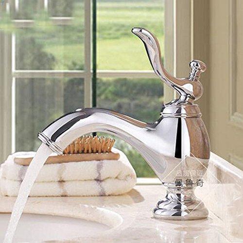 Maifeini  Poliert Verchromt Messing Badewanne Waschbecken Einzelzahn Bohrung Wasser Mixer Continental