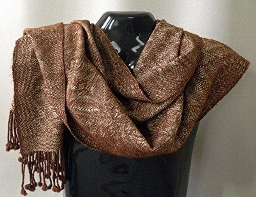 Handwoven Alpaca/Silk Shawl/Scarf by Whirlwind Designs