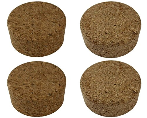 2 Jar Pack - Cork Lids / Stoppers for Mason, Ball, Canning Jars (2 Regular Mouth + 2 Wide Mouth)