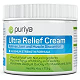Pain Relief Cream [4 Oz] for Arthritis. Proven Joint Back Knee Neck Shoulder