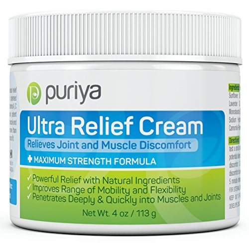 (Pain Relief Cream for Arthritis. 4OZ. Proven Joint Back Knee Neck Shoulder Pain Reliever. Effective for Carpal Tunnel, Tennis Elbow, Tendonitis, Muscle Chronic Pain. Patented Plant Rich Ingredients)