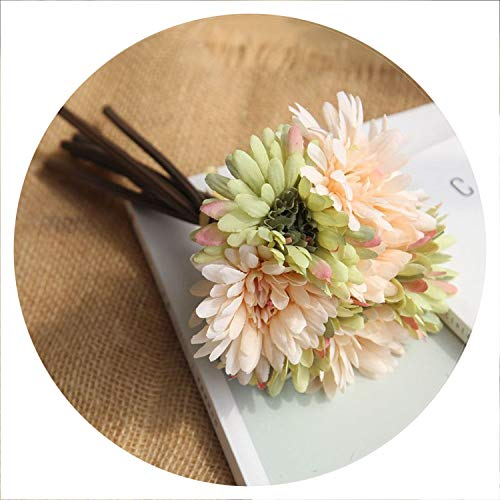 Strawberries Cake 7Pcs/Lot Artificial Flowers Gerbera Flower Gerbera Bouquet Holding Flowers Fake Flowers for Home Decoration Wedding Party,F