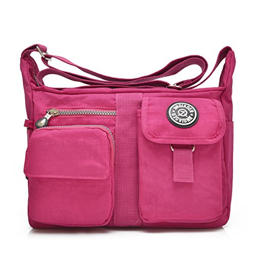 TianHengYi Cross Nylon for Messenger Multiple Pockets Girls Bag Design Womens Shoulder Rose body Bag Casual aArXqa