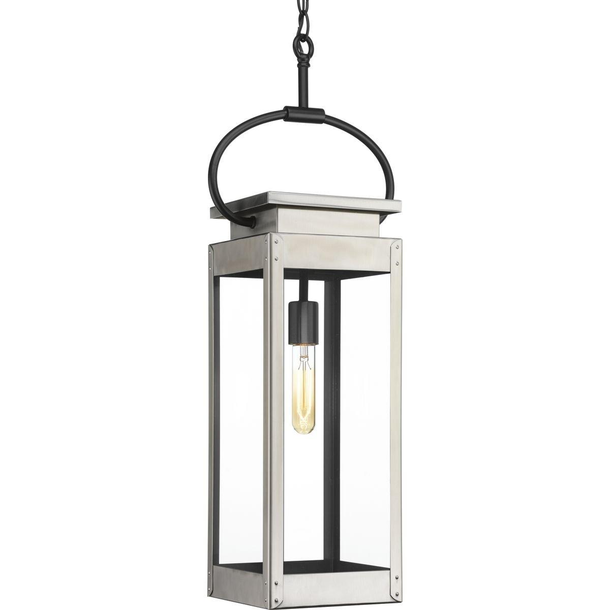Progress Lighting P550018-135 Union Square One-Light Hanging Lantern, Stainless Steel