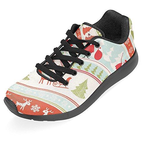 Interestprint Femmes Jogging Running Sneaker Léger Aller Facile À Pied Casual Confort Sportif Chaussures De Course Multi 7