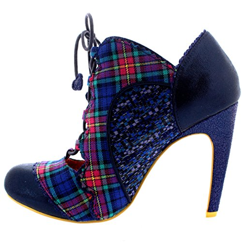 Womens Poetic Licence Halston Evening Lace Up Open Front High Heels - Blue - 10 DmYrwI5It