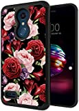 LG Phoenix Plus Case, LG K30 Case, LG Premier Pro Case, ANLI [Fashion Flowers Design for Girls and Women] Drop Protection Hybrid Dual Layer Armor Protective Case for LG K10 2018 Rose