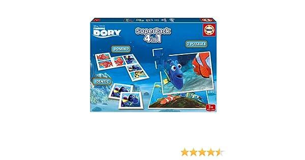 identic memo Game y domin/ó 16691 Superpack con 2 Puzzles Educa Borr/ás Buscando a Dory
