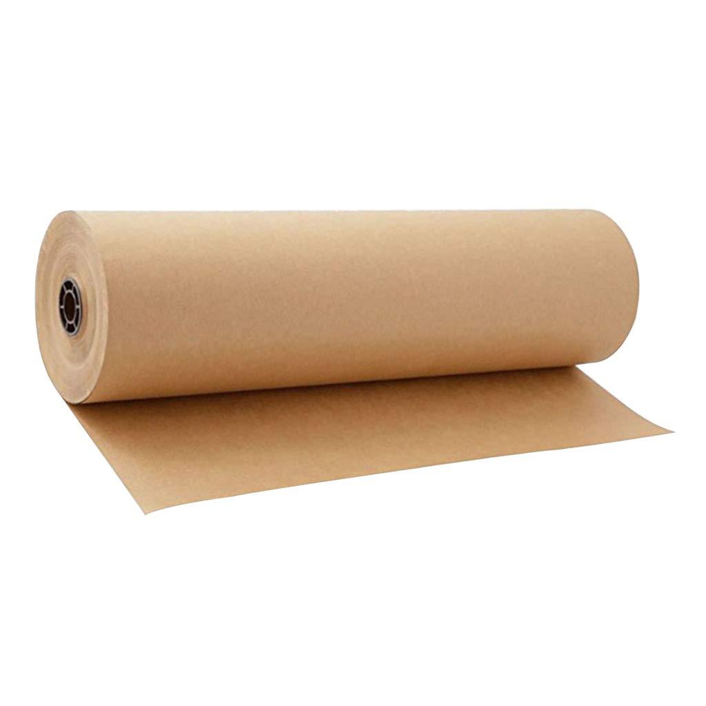 Fenteer Rouleau de Papier Demballage Kraft Brun Alimentaire Poche D/écoration de Fleurs Papier Origami